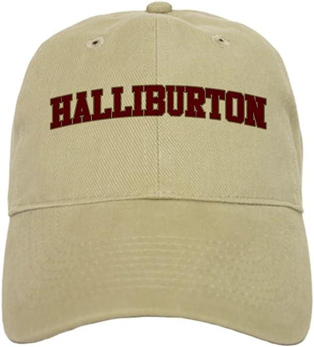 3f6583b18bd73 CafePress - HALLIBURTON Design - Baseball Cap with Adjustable Closure