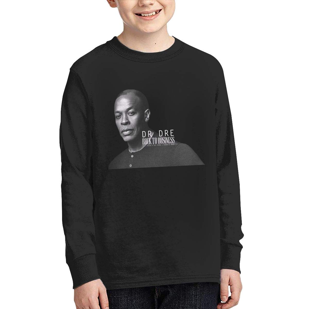 MichaelHazzard Dr DRE Youth Comfortable Long Sleeve Crewneck Tee T-Shirt for Boys and Girls