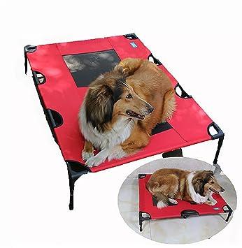 MEIQI Cama Elevable Portátil con Marco De Acero para Mascotas Gato/Perro,91 *