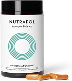 product image for Nutrafol Women's Balance Hair Growth Supplement For Thicker, Stronger Hair Peri- and Postmenopause (4 Capsules Per Day - 1 Month Supply)