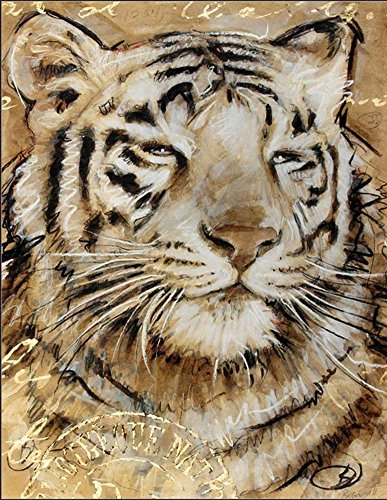 Exotic African Jungle Wild Animal Poster for kids Safari Tiger by Chad Barrett Wall