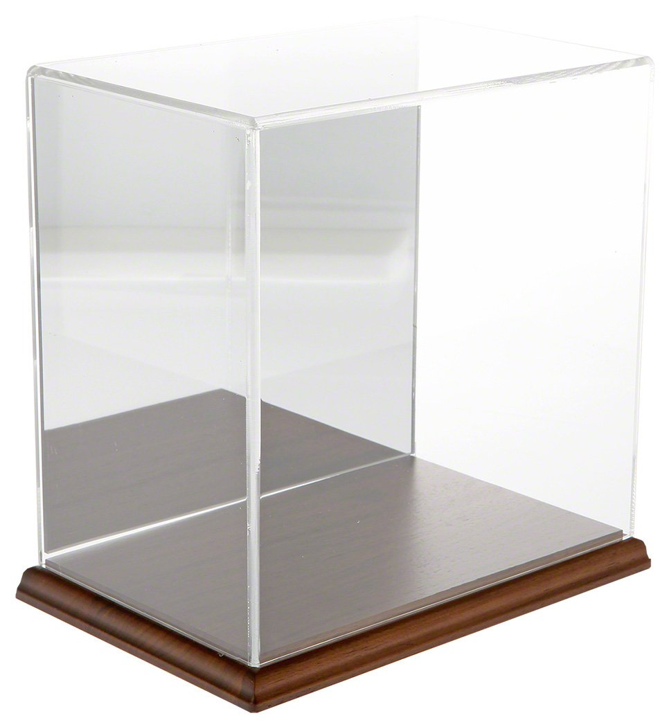 Plymor Clear Acrylic Display Case with Clear Base, 9 W x 6 D x 9 H
