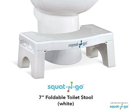 Swell Squat N Go Folding Squatting Stool 7 White Amazon Co Uk Cjindustries Chair Design For Home Cjindustriesco