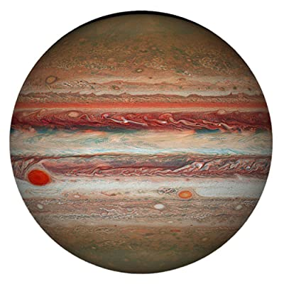 1000 Pieces Jupiter Jigsaw Puzzle, Ecstasi The Largest Planet with Clear Lines Great Red Spot Crater Large Space Series Picture Round Paper Assembling Games Educational Toys Gift for Children Adults: Home & Kitchen