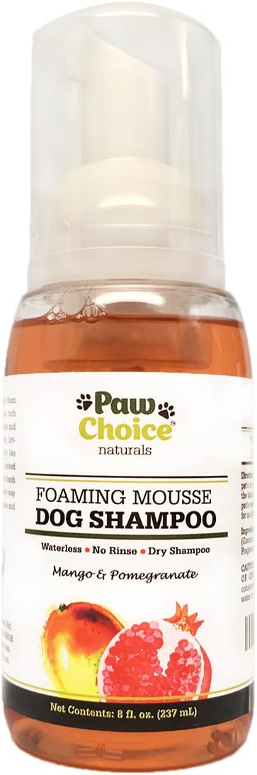 Paw Choice Foaming Mousse Dry Dog Shampoo - Runner-Up Dry Shampoo for Dogs