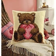 Cross Stitch Cushion: Popcorn with Heart by Popcorn