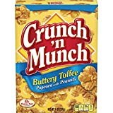popcorn and peanuts - Crunch N Munch Popcorn with Peanuts, Buttery Toffee, 6 Ounce (Pack of 12)