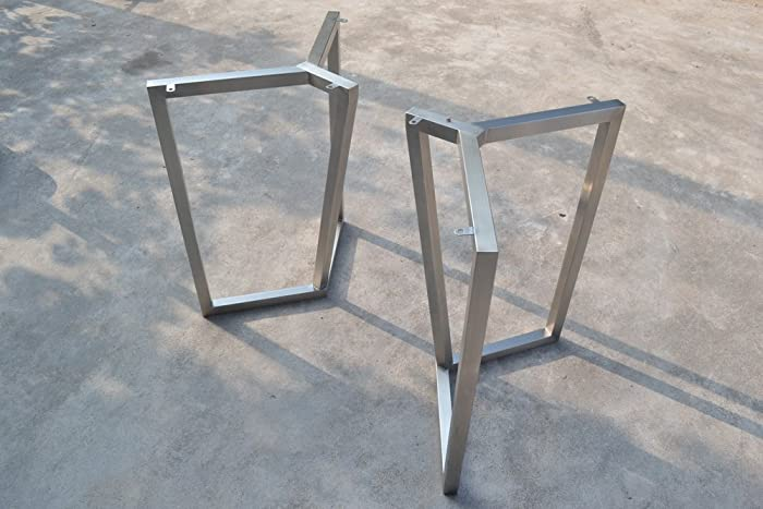 Superbe 28u0027u0027 Table Base, Bracket Metal Table Legs, Industrial Style, Woodworking,