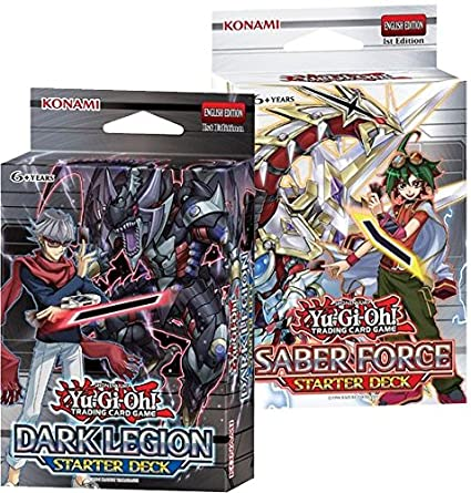 Yu-Gi-Oh kaartspellen Saber Force And Dark Legion Starter Decks For Trading Card Game TCG