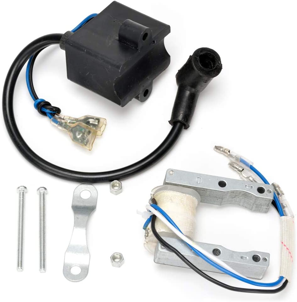 HIAORS CDI Ignition Coil Magneto Coil for 49cc 50cc 60cc 80cc 2-Stroke Engines Motor Motorized Bicycle Bike