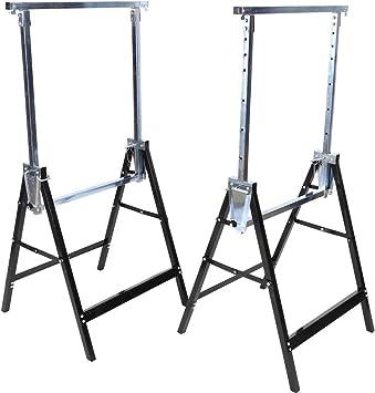 2 x Pesado Constructores Telescópicos Caballetes de Andamio Extensible Plegable Escalera Escalera de Extensión Carga hasta 200KG: Amazon.es: Bricolaje y herramientas