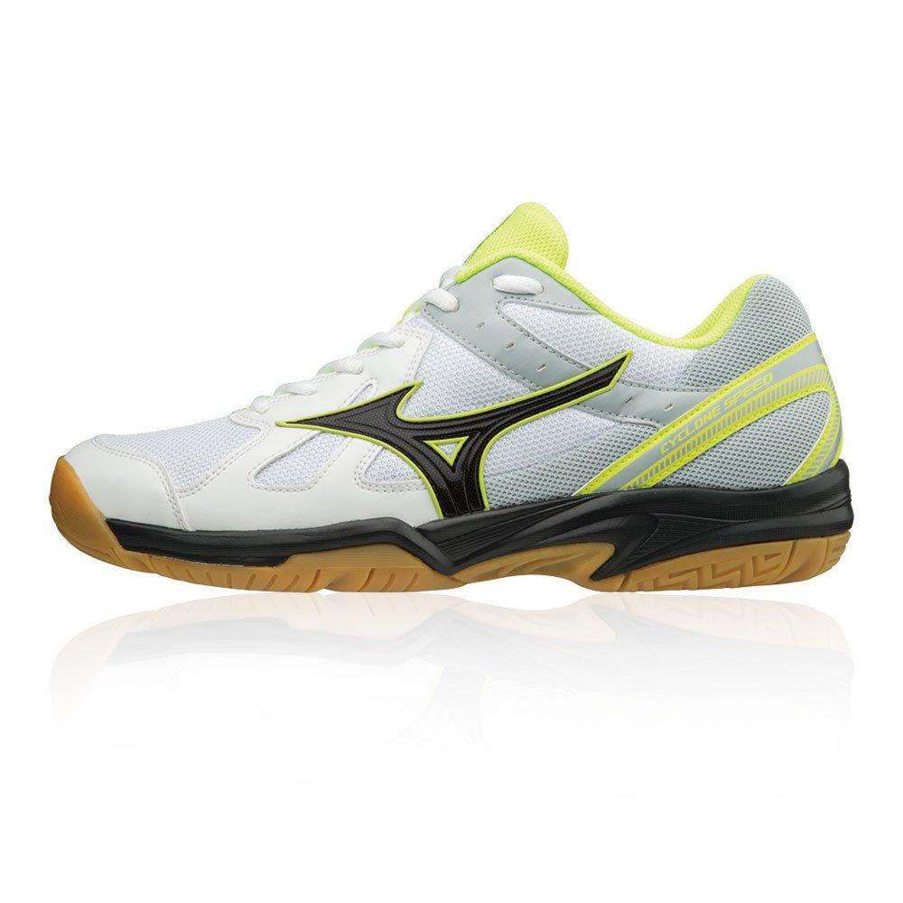 Mizuno Cyclone Speed, Zapatillas para Hombre 42.5 EU Multicolor (White/Black/Safety Yellow 001)