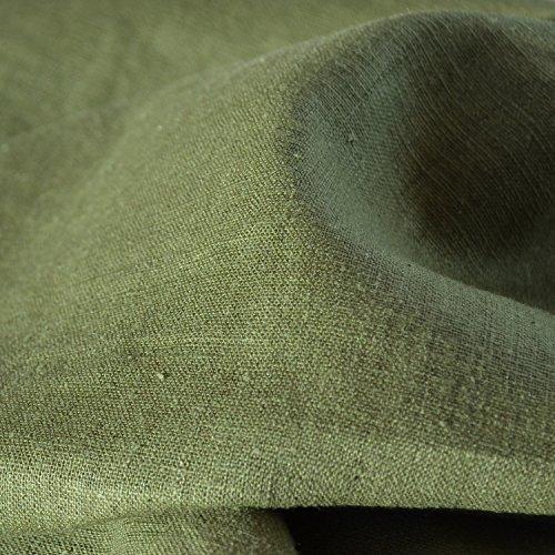 Green Linen Fabric - 5