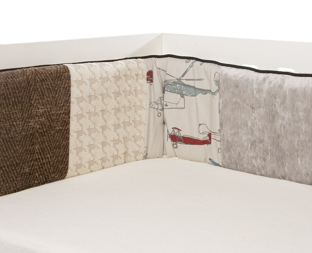 Glenna Jean Fly-By Bumper, Taupe/Grey/Blue/Brown/Red by Glenna Jean   B00GWUOR6A