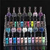 New Clear Acrylic Makeup Organizer Nail Polish Display Case Jewelry Stand Holder Beauty Tools Cosmetic Rack Plastic Storage Box^