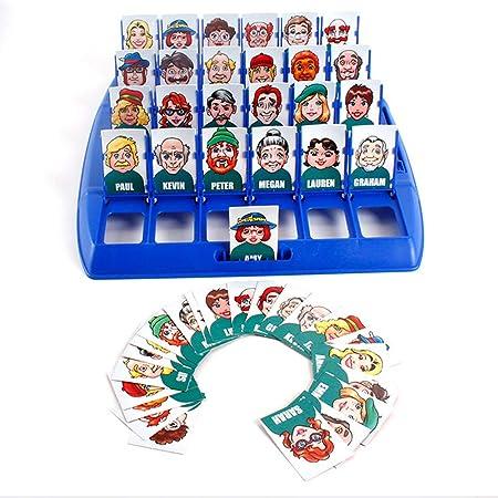 Amasawa Quién es Divertido Juego de Mesa,Adecuado para el Clásico Juego de Mesa Funny Family Guessing Games Kids Children Toy Gift (Rojo y Azul): Amazon.es: Juguetes y juegos