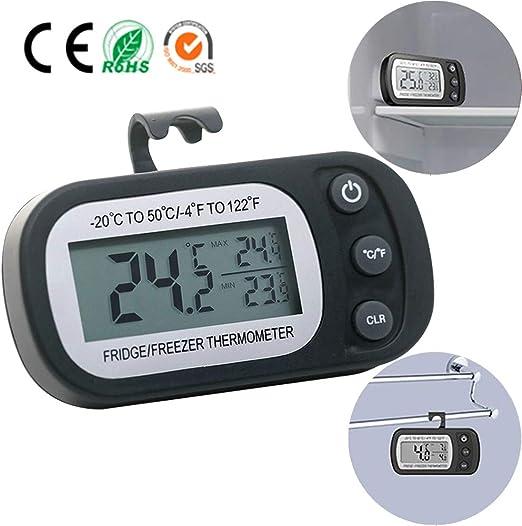 Konesky Termómetro Congelador, Digital Termómetro del Refrigerador ...