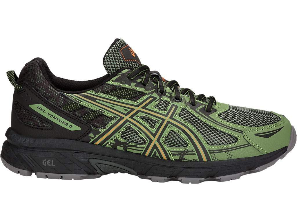 ASICS Men's Gel-Venture 6 Running Shoes, 7M, Cedar Green/Lava Orange