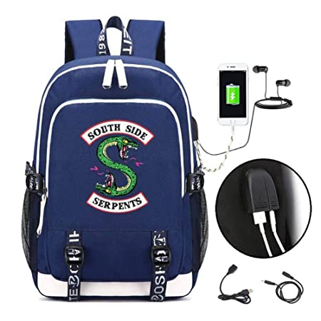 Amazon.com  Riverdale Backpack Student School Book Bag Laptop Backpack  Casual Dapack Bookbag with USB Charging Port  ChenMeiZhiLeiZhiPin ef60044fb554b