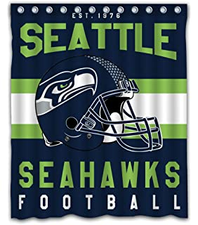 Sonaby Custom Seattle Seahawks Waterproof Fabric Shower Curtain For Bathroom Decoration 60x72 Inches