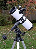 "AstroVenture 4.5"" Reflector Telescope With Universal Smartphone Camera Adapter (White)"