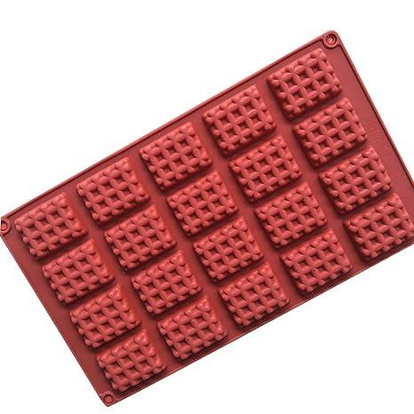 Ruiting Moldes de Pastel, Torta Silicona 20 cavidad 3D Gofre Fondant Molde Herramientas de Decoración