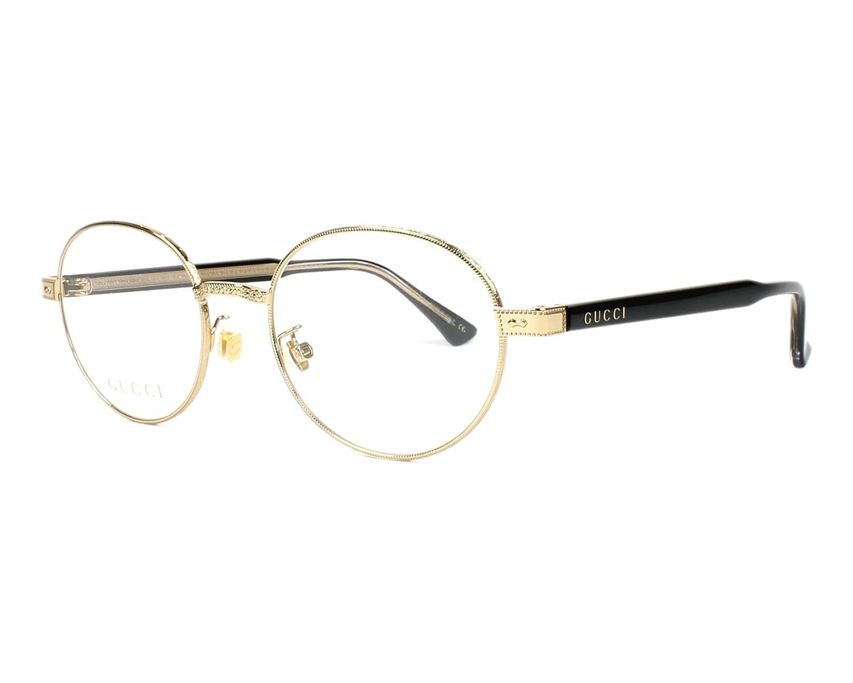 70f9a1acb4d Amazon.com  Gucci GG 0189 O- 001 GOLD   BLACK Eyeglasses  Clothing