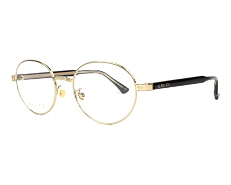 71b618bd2e Amazon.com  Gucci GG 0189 O- 001 GOLD   BLACK Eyeglasses  Clothing