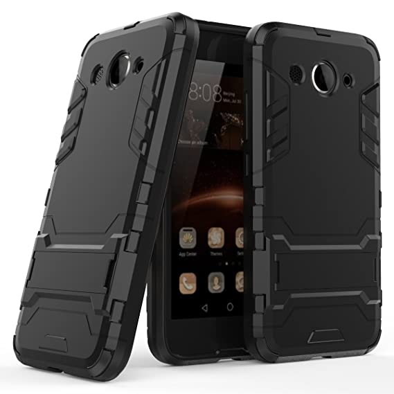 Huawei Y5 Lite 2017 Case, Huawei Y5 Lite 2017 Hybrid Case, Dual Layer  Protection Hybrid Rugged Case Hard Shell Cover with Kickstand for 5 0''  Huawei