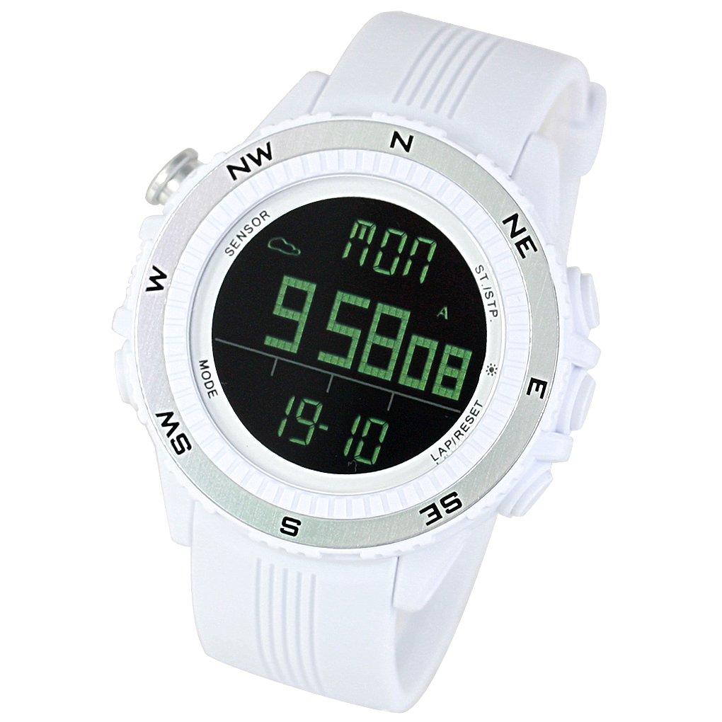 [ Lad Weather ] German Sensor Altimeter/Barometer/デジタルコンパス/天気予測/マルチ関数/アウトドア登山/ランニング/ウォーキングスポーツ腕時計   B07CXSZTNT