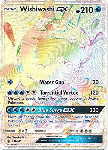 Pokemon Wishiwashi-GX - 151/145 - Secret Rare - Sun & Moon: Guardians Rising