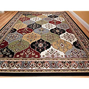 New Multi Color Panal And Diamonds Area Rug 5x7 Rugs For Living Room Under  50