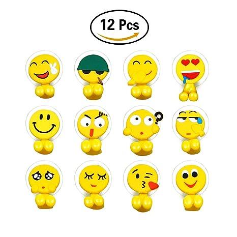 Caramella burbujas 12 sets Emoji soporte para cepillos de dientes con ventosa cepillo de dientes de