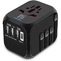 Bacaksy Reisadapter Universele Reisstekker Wereldwijd Stroomadapter Internationale adapters Wereldstekker met 3 USB + 1…