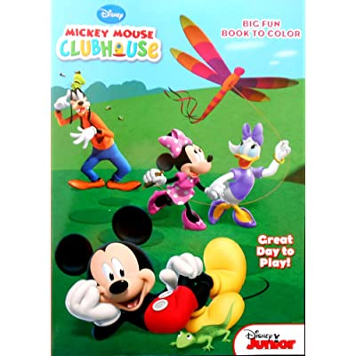 Mickey Mouse Clubhouse Great Day To Play Coloring and Activity Book: Toys & Games