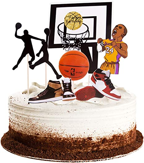 Terrific Amazon Com Winrase Basketball Scene Theme Cake Toppers Set Boy Funny Birthday Cards Online Elaedamsfinfo
