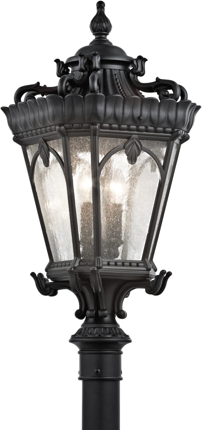 Kichler 9559BKT Tournai Outdoor Post, 4 Light Incandescent 240 Total Watts, Textured Black