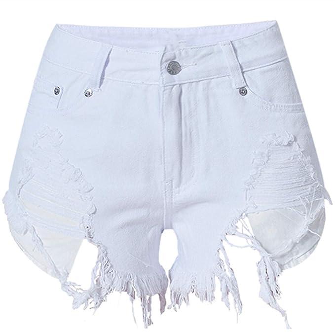 Pantalones Vaqueros Cortos Mujer Femme Mini Pantalones ...