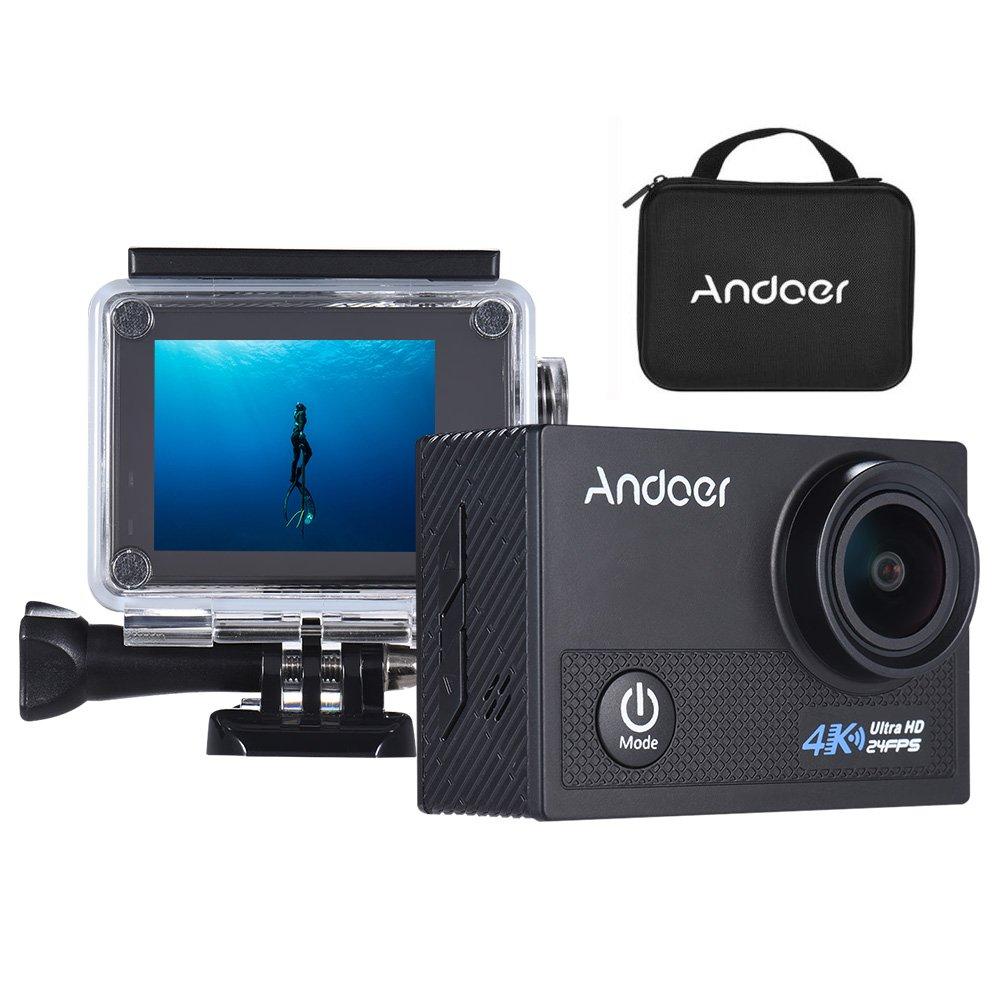 Andoer AN5000 アクションカメラ 4K 24fps WiFi 20MP 1080P 60fps 5倍ズーム 2