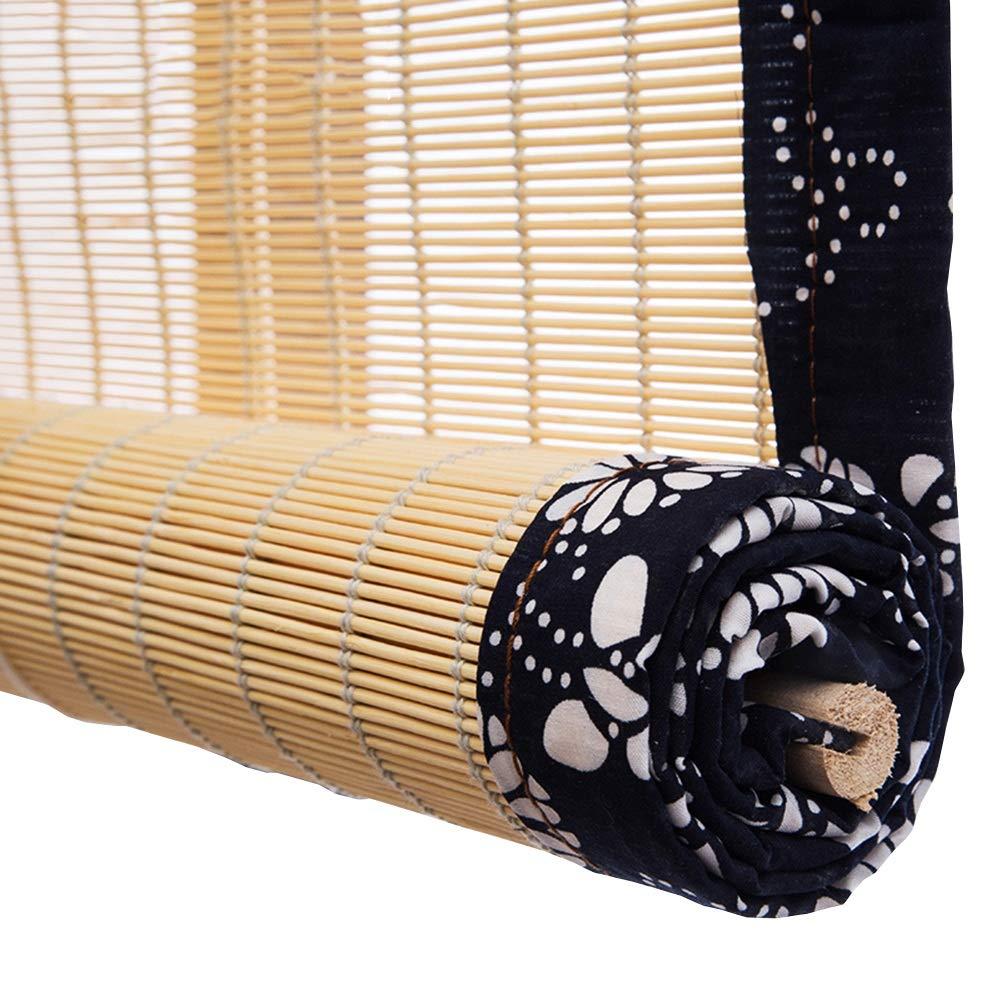 la mejor selección de negro 80x153cm 80x153cm 80x153cm WUFENG Cortina De Bambú Estilo Rustico Decoración Cortar Filtrado De Luz A Prueba De Polvo Persiana, Múltiples Tamaños Personalizable Cortina (Color   negro, Talla   80x153cm)  ventas de salida