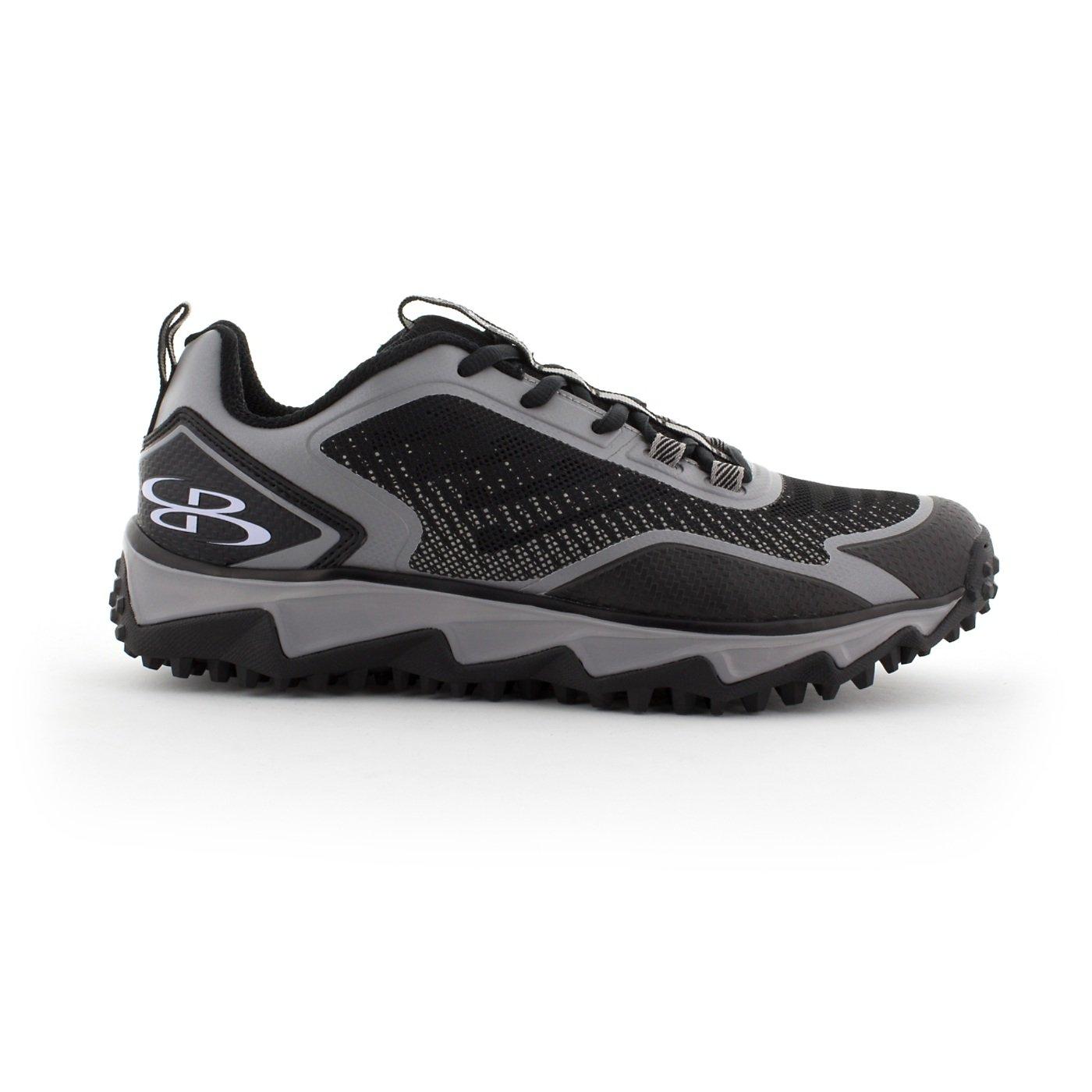 BoombahメンズBerzerk Turf Shoes – 13色オプション – 複数のサイズ B076B7ZN42 12|ブラック/グレー ブラック/グレー 12