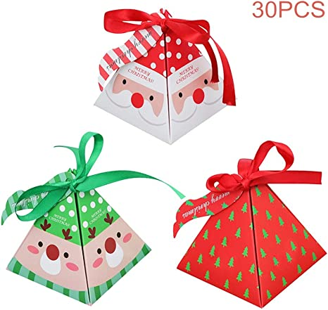 Candy Christmas Santa Xmas Paper Sweet Gift Shop Party bags  Birthday 7 x 9/""