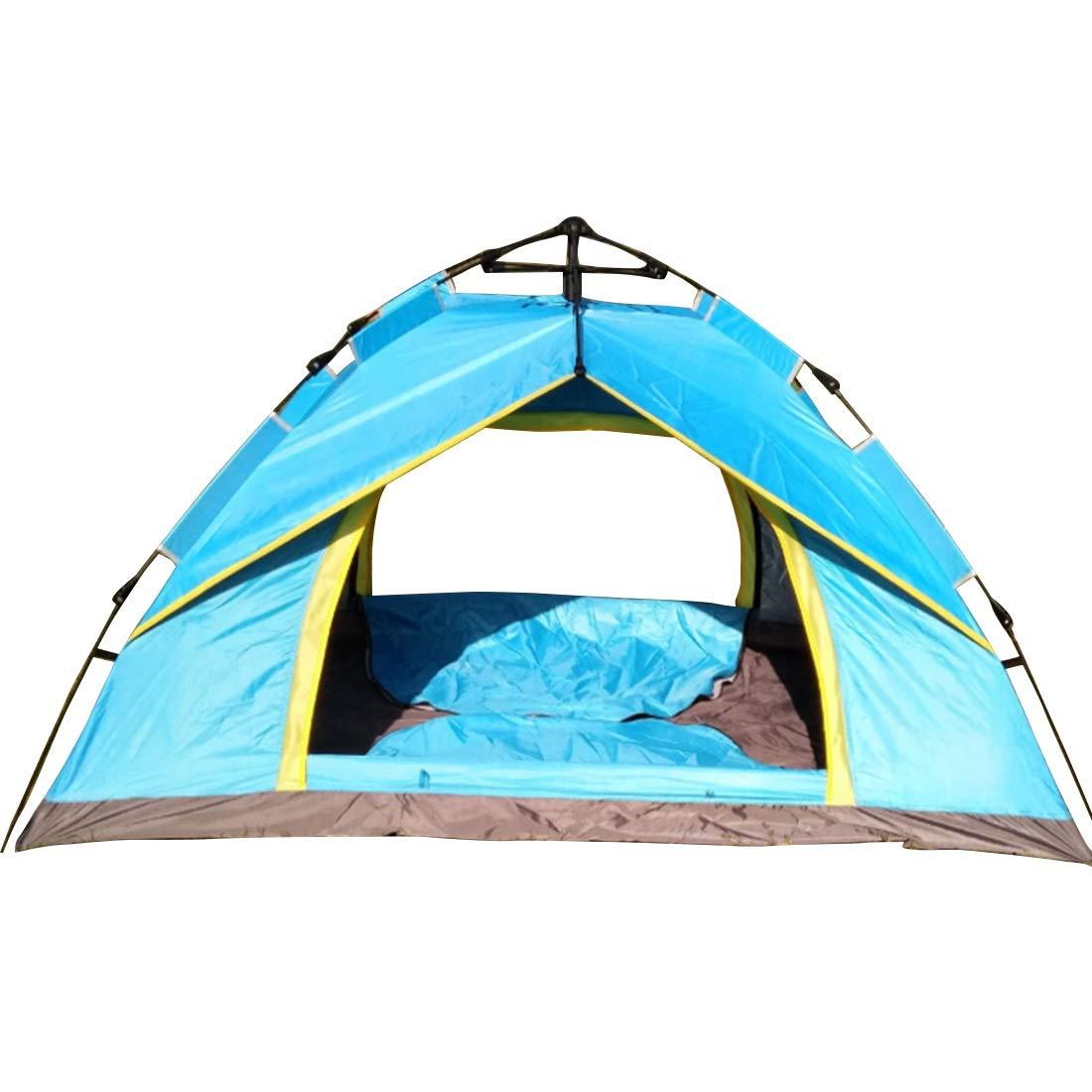 Klerokoh Wildes Camping für 3 und 4 Personen automatisches Zelt (Farbe : Blau)