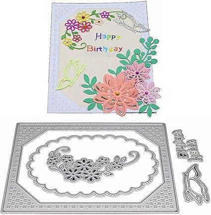 6Pcs Flowers Design Metal Cutting Dies For DIY Scrapbooking Album Paper Cards UP