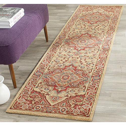 - Safavieh Mahal Collection MAH698A Traditional Oriental Red and Natural Runner (2'2