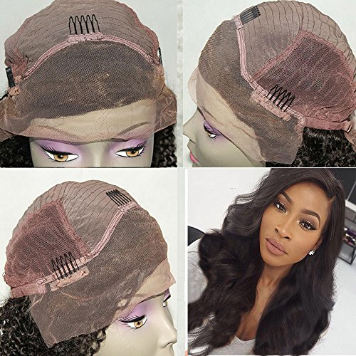 Human Hair Wigs for Women Brazilian Virgin Human Hair Lace Front Wigs with Baby Hair Loose Curly Wigs Glueless Lace Front Wig Body Wave Natural Black Color Wigs 12 inch by Prime Kitty (Image #3)