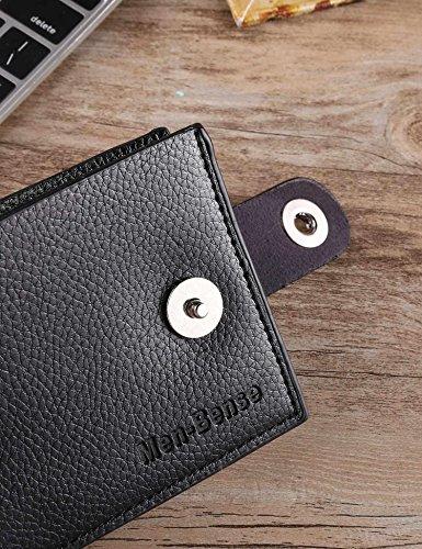 Short Wallets Leather 02 Open Thin Jingjing1 Bifold Bifold Men card Black Purse Multi Fashion Print 1wR4xgYq