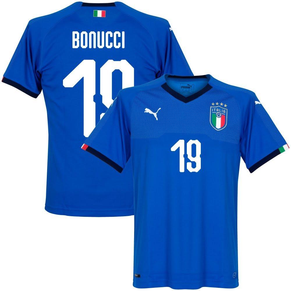 Italien Home Trikot 2018 2019 + Bonucci 19 (Fan Style)