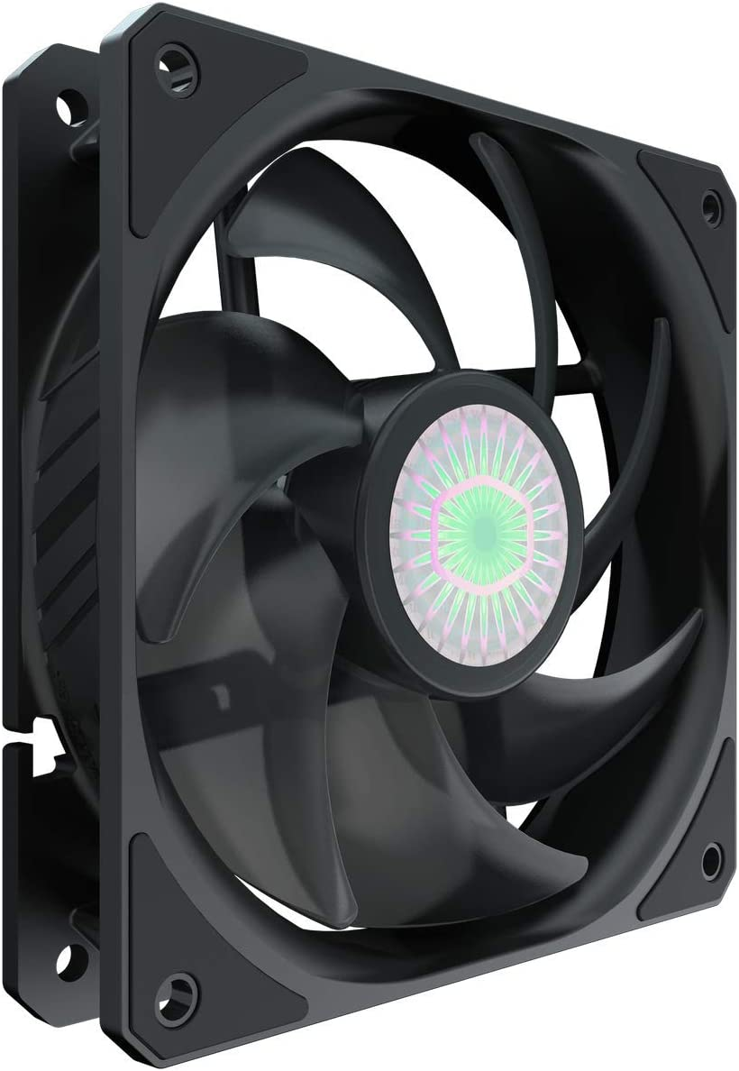 Cooler Master SickleFlow 120 V2 All-Black Square Frame Fan with  Air Balance Curve Blade Design, Sealed Bearing, PWM Control for Computer Case & Liquid Radiator