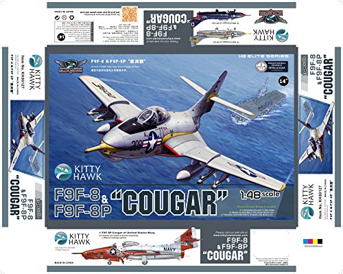 KTH80127 1:48 Kitty Hawk F9F-8 / F9F-8P Cougar [MODEL BUILDING ()